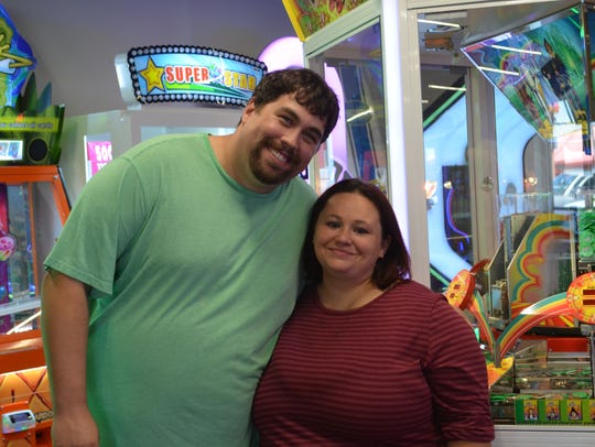 Thomas and Kimberly Adler were playing in the arcade during their honeymoon in Branson.