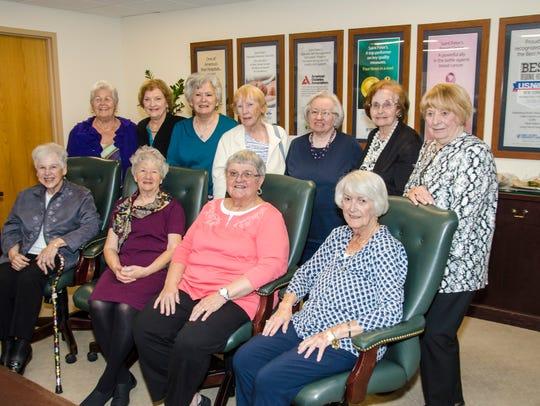 The Saint Peter's School of Nursing Class of 1957 gathered