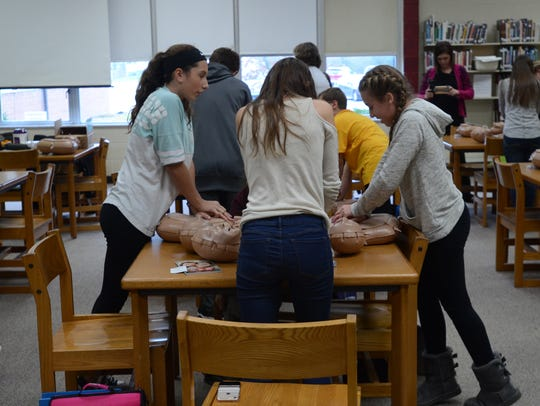 Students at Fort Gratiot Middle School learn how to