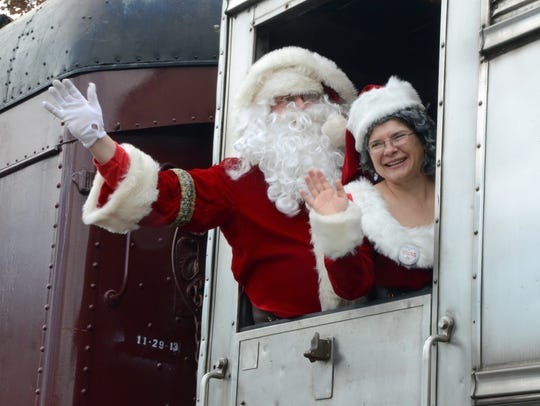 Operation Toy Train  arrives in Midland Park with Santa