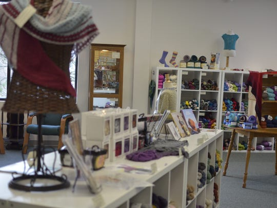 An interior shot of Must Love Yarn taken as the co-owners of the shop chat about their yarn podcast of the same name on Nov. 27, 2017.