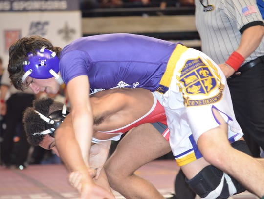 Rayne's Cooper Simon, top, reaches the finals at 120