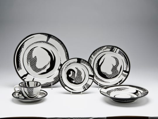 'Dinner Service' was  designed in 1966 by Roy Lichtenstein,(American, 1923–1997).  It was made by Jackson China, Falls Creek, Pennsylvania. for Durable Dish Co., Villanova, Pennsylvania. It is earthenware with enamel decoration.