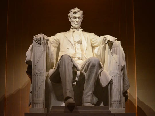 At the west end of the National Mall in Washington D.C., the Lincoln Memorial stands in tribute to President Abraham Lincoln.
