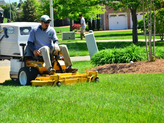 A lawn service provider hired through GreenPal