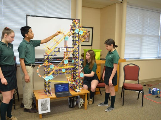 St. Matthias student coast through their STEM porject
