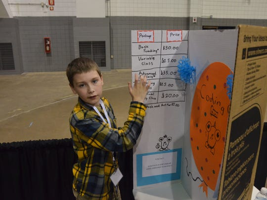 Dunlap Elementary School's Aiden Hoffman has a plan
