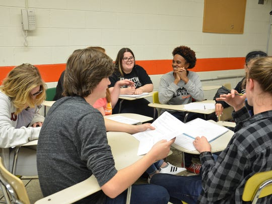 A sociology class at Elizabethton HIgh School worked on a project investigating a series of killings in and around Tennessee. These deaths are often referred to as the Redhead Murders. Instead of simply studying human behavior and patterns and then taking a test, the students studied historical examples and interpreted the ways those patterns lead people into certain walks of life.
