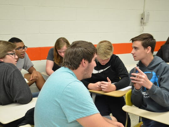 A sociology class at Elizabethton HIgh School worked