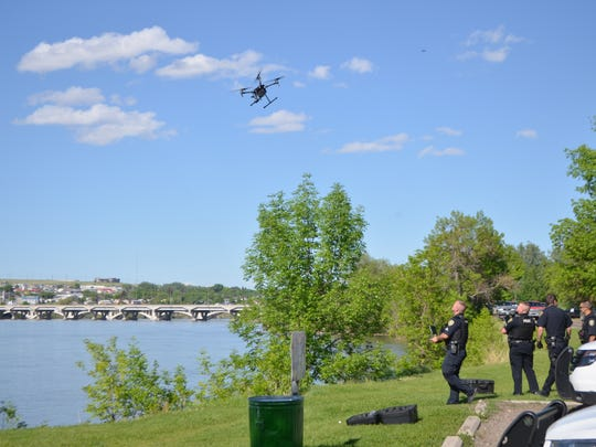 Great Falls police used a drone to locate the man's