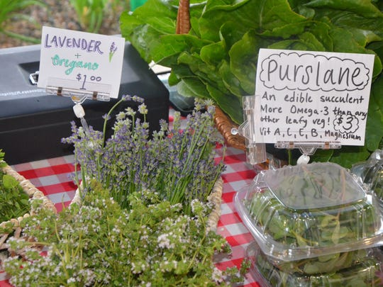 Squash Blossom Farms sells some more unique items at its farm stand, such as purslane and vegan kimchi.