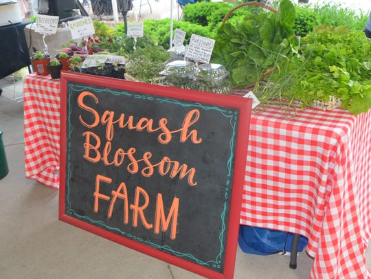 You can find Squash Blossom Farms at the Battle Creek
