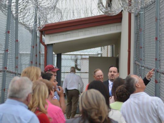 Crossroads Correctional Center Warden Pat McTighe shows