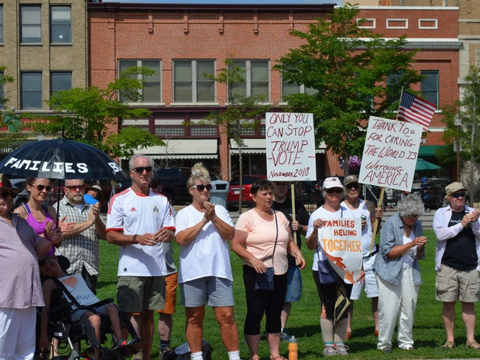 About 100 people attended a downtown Wausau protest