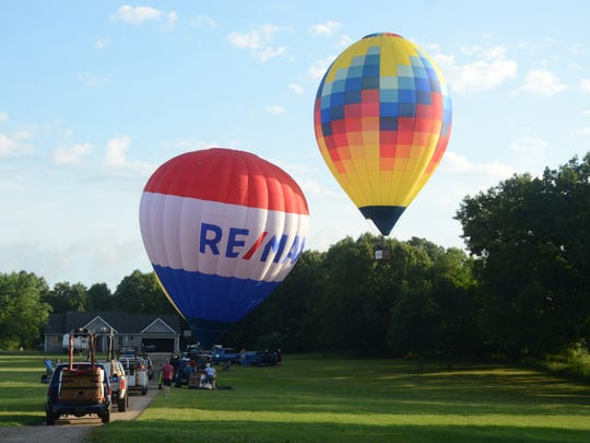 Balloons launched from northwest of Battle Creek on Monday morning.