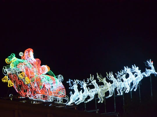 Attend the Festival of Lights in the Oil Center for Christmas.