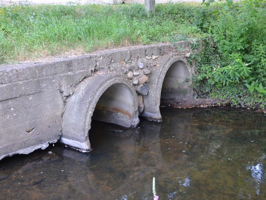 An Emmett Township culvert that's estimated to be 100