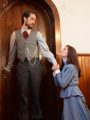 """Frank McGinnis as Valjean and Morgan Dean as Fantine are shown is a scene from Up in One Productions' """"Les Misérables."""""""
