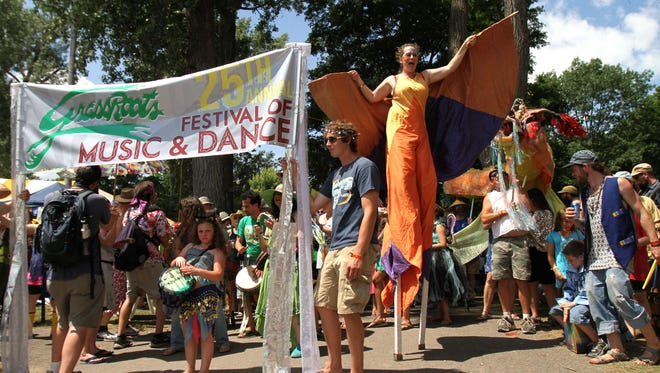 The annual GrassRoots Festival includes music, arts, parades and more.