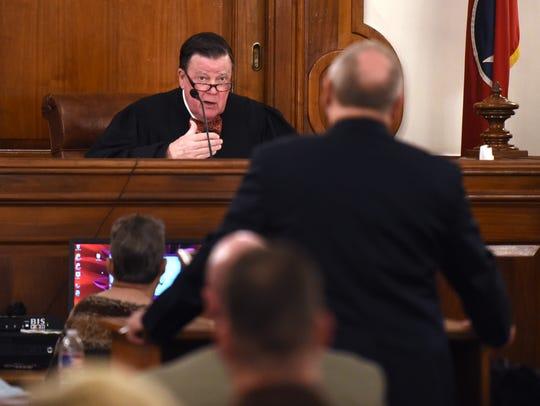 Judge C. Creed McGinley informs prosecutor Paul Hagerman