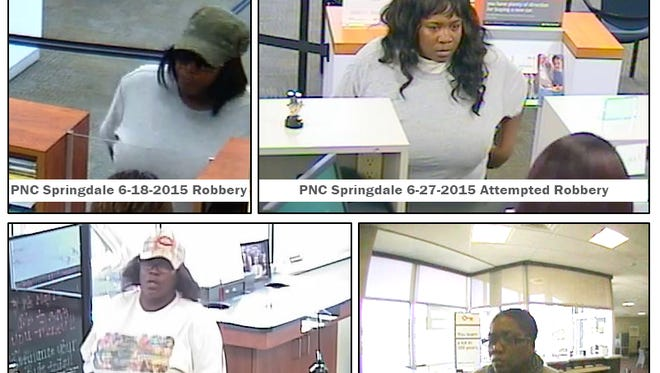 Hamilton police are seeking help identifying a female suspect in three bank robberies and one attempted robbery.