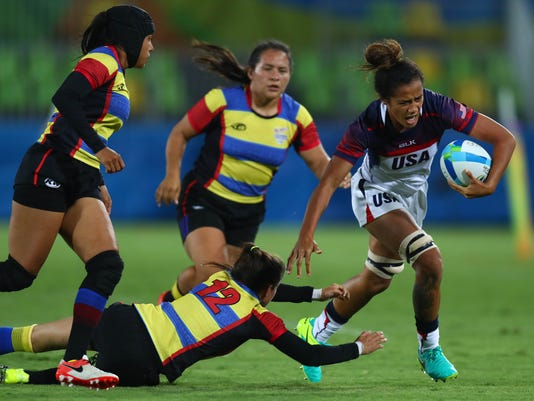 Olympics: Rugby Sevens-Women's Team-Group Stage Pool A-United States (USA) vs Colombia (COL)