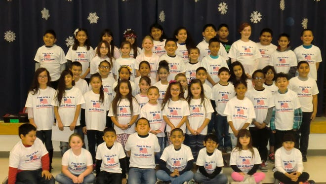 Students at Puckett Elementary were rewarded for being caring and responsible.