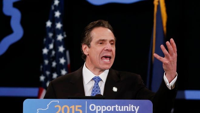 New York Gov. Andrew Cuomo delivers his State of the State address in Albany earlier this month.
