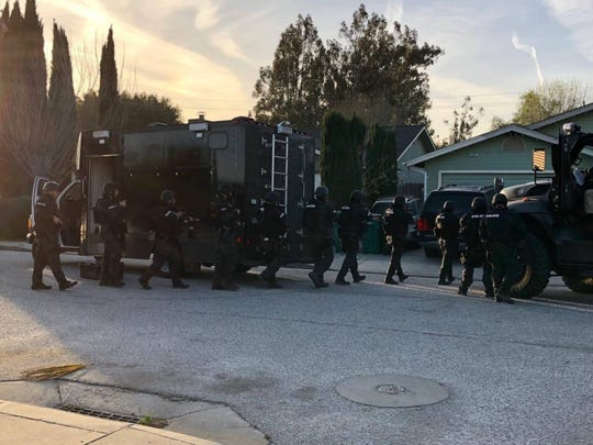 The Salinas SWAT and Violence Suppression units served