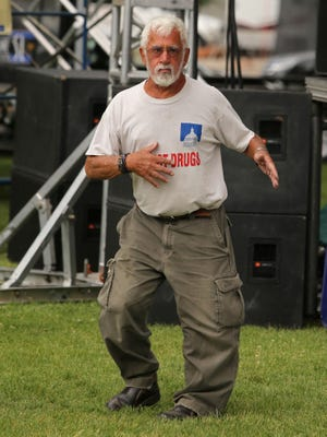 Stanley Herold, who died May 12, does his signature dance during Groovefest 2013 at Main Street Park in Cedar City.