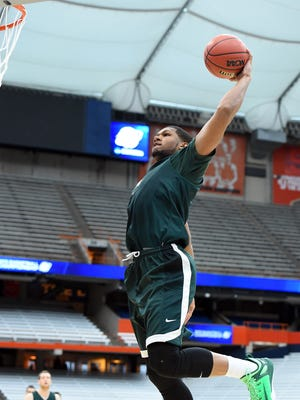 Spartans forward Marvin Clark Jr. grew up being shuttled between homeless shelters with his mom and siblings.
