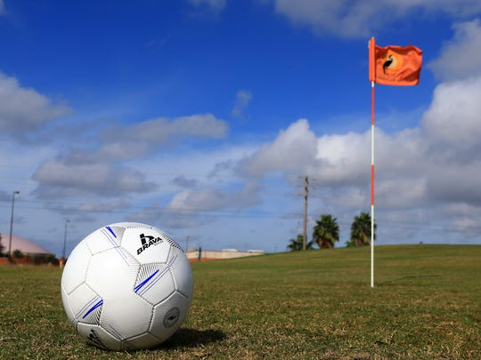 Playing the footgolf course at the Lozano Golf Center, 4401 Old Brownsville Road, costs $10 for those 12 and older, and younger children cost $7.50 each. The course is open the same hours as the center's regular golf courses.