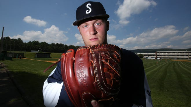 Suffern pitcher John Saviano, Rockland baseball player of the year.