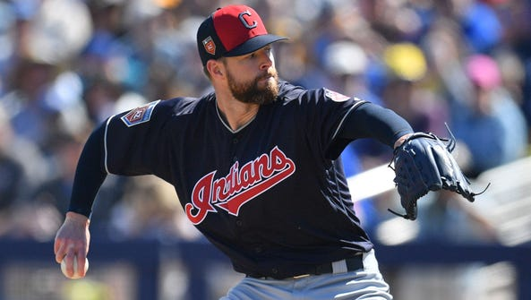 The Indians' Corey Kluber was one of 15 pitchers to