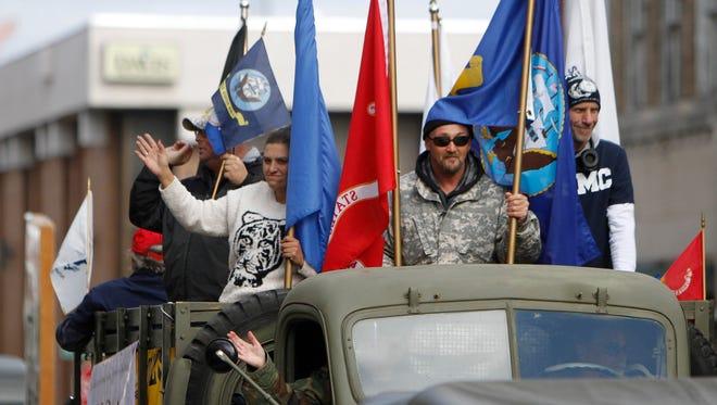 Scenes from Springfield's Veterans Day Parade on Saturday, Nov. 8, 2014.