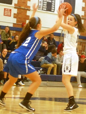 Senior guard Mackenzie Disbrow  (right) and Rutherford are the fourth seed in the upcoming NJIC tournament.