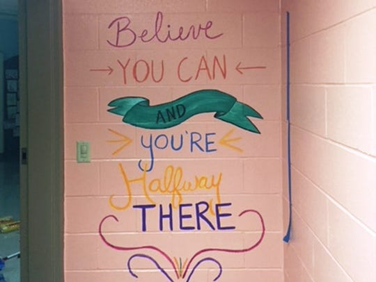 All the girls remembered this inspirational quote painted
