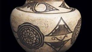 Kiapkwa Polychrome jar (Zuni), 1820-1840, Fred Harvey Fine Arts Collection of the Heard Museum
