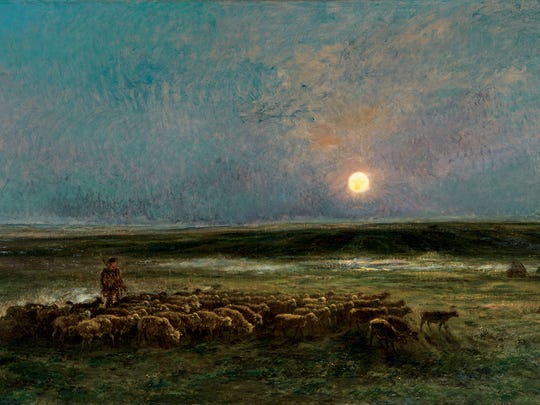 Charles François Daubigny, Moonrise at Auvers or Return of the Flock, 1877, oil on canvas. The Montreal Museum of Fine Arts, Gift of Lady Drummond in memory of her husband, Sir George A. Drummond