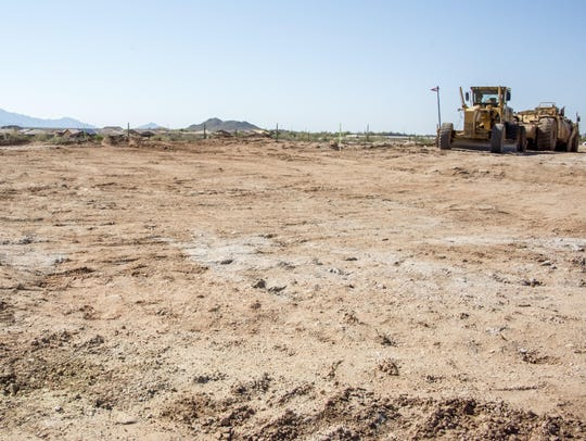 The site of the future Presidio, a residents club at