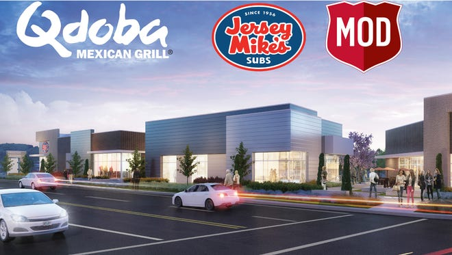 Firehouse Crossing is a new development at the corner of Commercial Street SE and Hilfiker Lane SE. The development will be home to three new restaurants: Qdoba Mexican Grill, Jersey Mike's Subs and Mod Pizza.