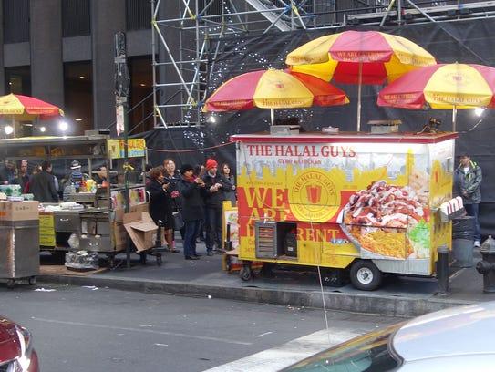 The Halal Guys, popular on New York street corners,