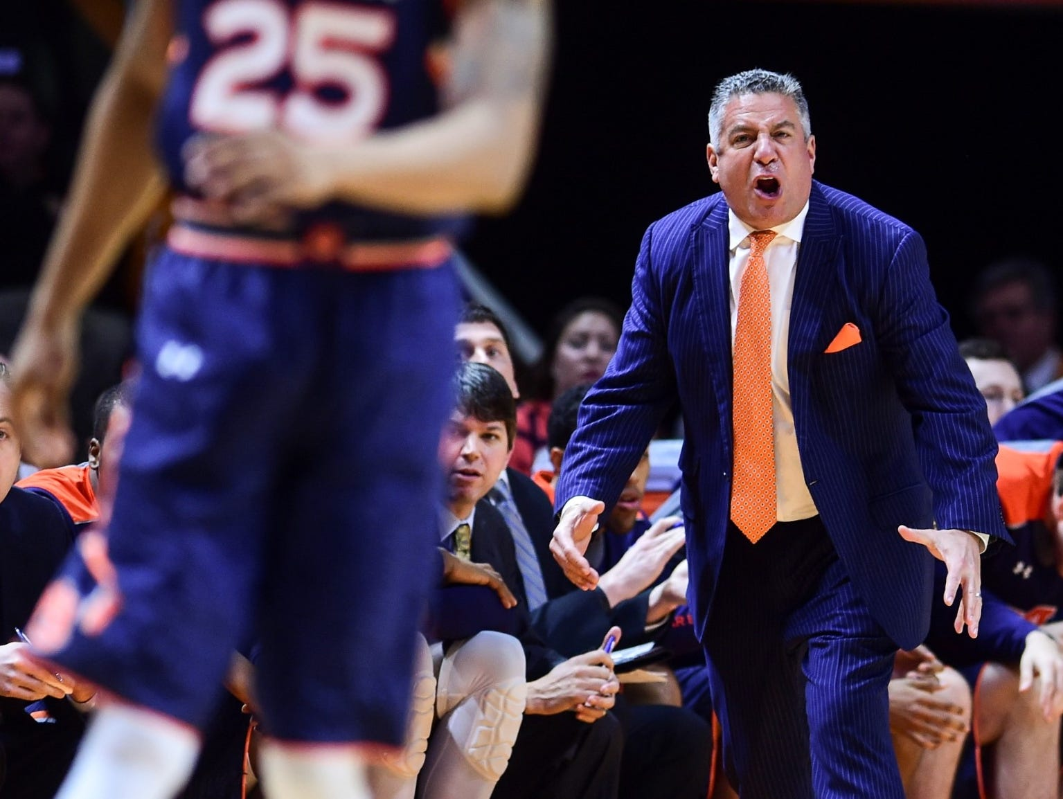 Auburn coach Bruce Pearl has athletic director Jay Jacobs excited about the future of the Tigers in men's basketball