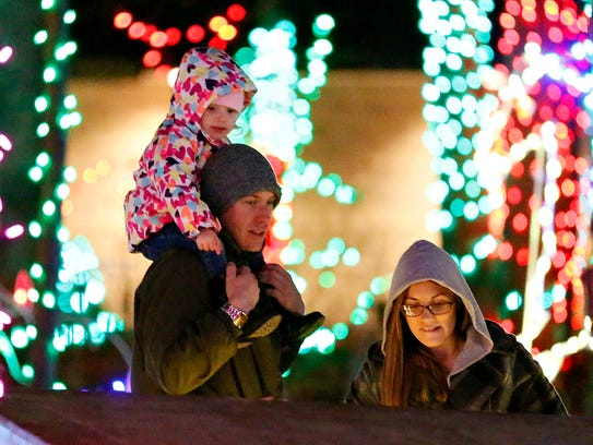Christmas Magic, A Festival of Lights, is shown at