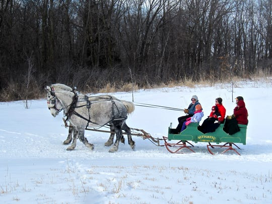 Outdoor winter fun will be featured at Wade House this winter. The excitement will begin with Wade House's sleigh ride weekends, scheduled for every weekend in January through March. Weather dependent.