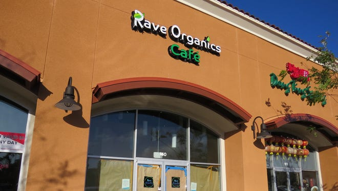 Brown paper covering the windows at Rave Organics Cafe, 520 N. Ventu Park Road in Newbury Park, will be removed when the restaurant's soft opening takes place at 6 a.m. April 18.