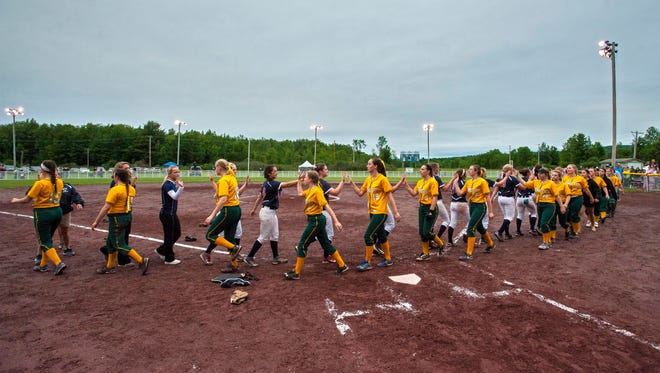 Mt. Anthony defeated BFA in the Division I state high school softball championship in Poultney on Monday, June 15, 2015.