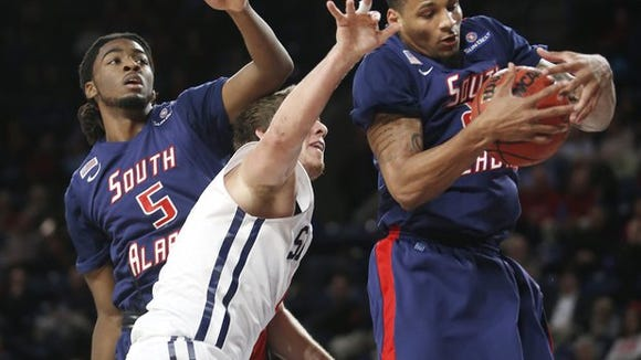 South Alabama graduate Dionte Ferguson has posted three straight double-doubles in his first five games playing overseas this season.