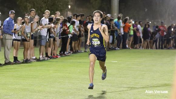 Eastwood senior Daniel Bernal defended his individual title, setting a Grande Sports 5-kilometer course record at 14:45.60. The Troopers team remained undefeated this season, winning the 203-runner, 29-team Sweepstakes Division of the Desert Twilight XC Festival in Casa Grande, Ariz.