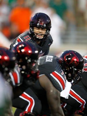University of Louisville quarterback Will Gardner